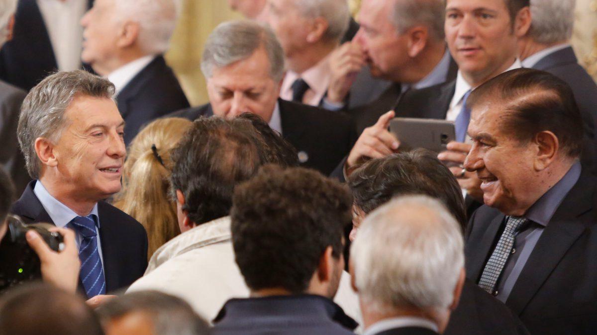 Guillermo Pereyra y Presidente Mauricio Macri